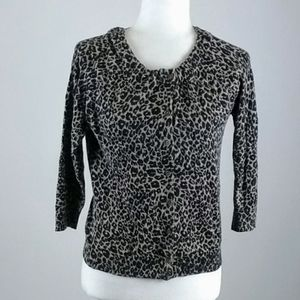 Loft SP button down animal print sweater